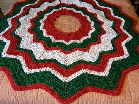 crochet christmas tree skirt patterns crocheted tree skirt thefrenchchick s weblog