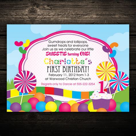 printable lollipop birthday invitations candyland invitation sweet shop lollipop gumdrops candy
