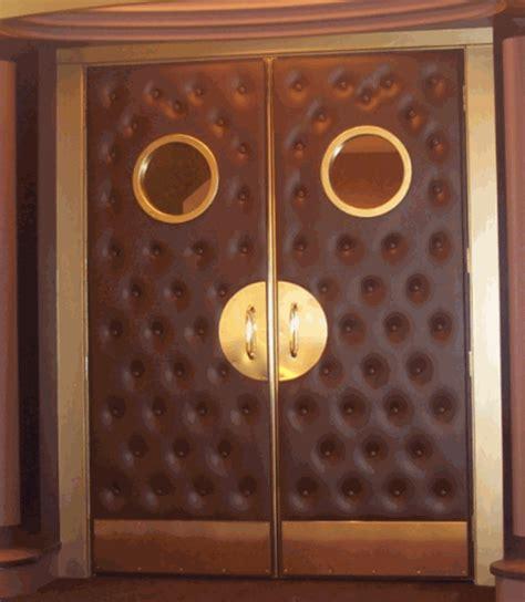 home theater premium upholstered door panel