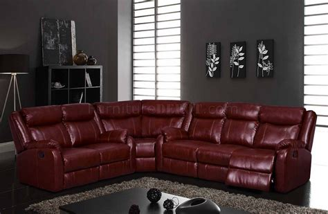 u9303 motion sectional sofa in burgundy by global