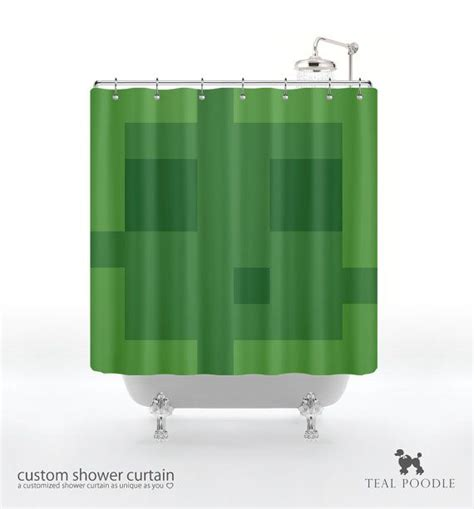 minecraft curtains for sale slime shower curtain geekster mine craft video game