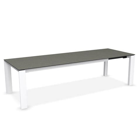 calligaris glass dining table calligaris omnia glass extending dining table lead grey