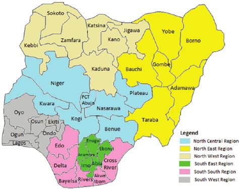 map of nigeria with states nigeria south africa angola underperforming world bank