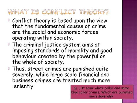 Conflict Theory Essay by Criminal And Morality Essay