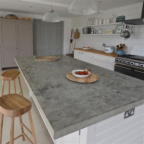 Home Kitchen Furniture Polished Concrete Kitchen Worktops Brighton 1 Finesse