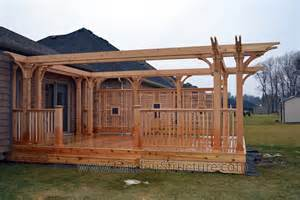 Images Of Decks With Pergolas by St Catharines Deck Contractors And Pergola Builders