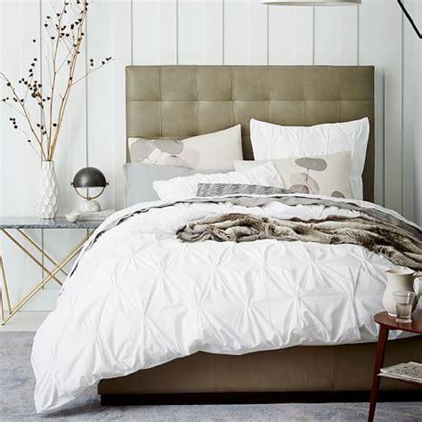 white cotton comforter cover organic cotton pintuck duvet cover shams white west elm