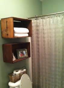 wooden bathroom shelves wooden crates as bathroom shelves my creations