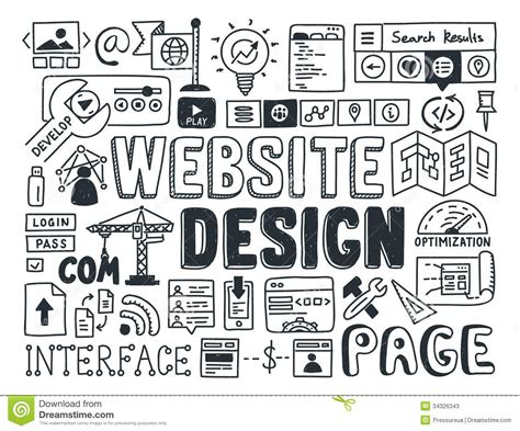 website design doodle elements stock photos image 34326343