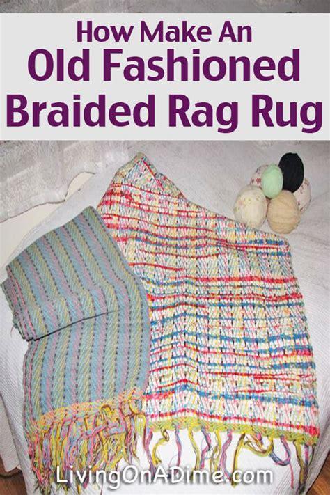fashioned braided rag rug