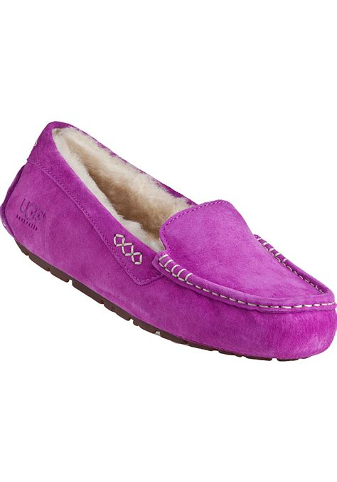 slipper cactus ugg ansley slipper cactus flower suede in purple lyst