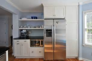 superior Kitchen Cabinets Refrigerator Surround #2: 94319e620ca6784c_9404-w618-h411-b0-p0--traditional-kitchen.jpg