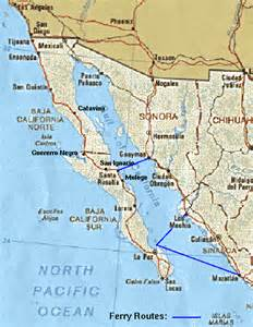 gulf of california on a map map of gulf of california california map