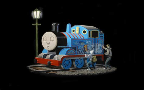 train steam locomotive graffiti thomas  tank engine