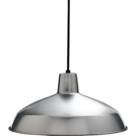 Brushed Steel Pendant Light Progress Lighting Brushed Steel 1 Light Pendant The Home Depot Canada