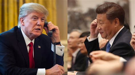 xi jinping in phone call to trump calm down on north