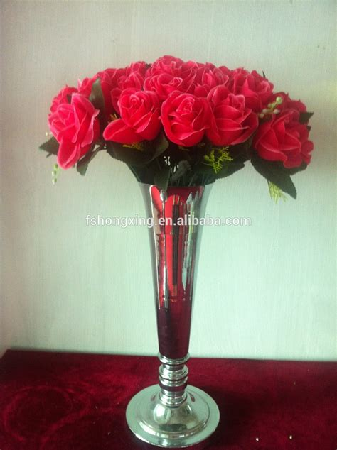 Flower Vase Stand by Hp5 Sliver Metal Flower Vase Flower Stand For Wedding Decoration View Metal Wedding Flower