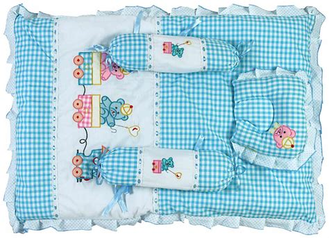 buy advance baby teddy print mattress set with pillow and