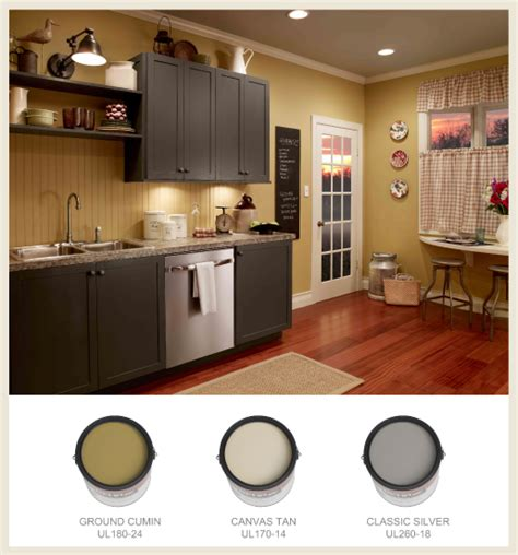 grey kitchen cabinets wall colour love the farmhouse feel of this paint scheme from behr