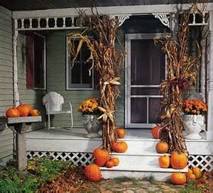corn stalks for halloween picture of cute fall porch decor ideas