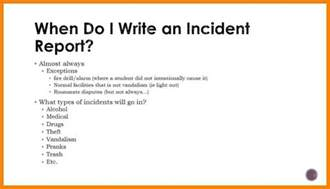 3 how to make an incident report packaging clerks