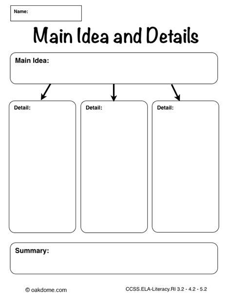 idea organizer idea detail graphic organizer math strategies