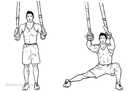 trx suspension straps side step lunge illustrated