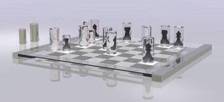 futuristic chess set unique transparent chess set tuvie