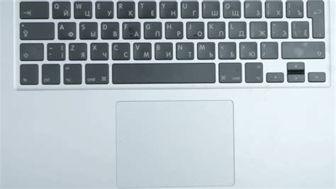 top view of laptop computer keyboard and touch pad used by stock footage