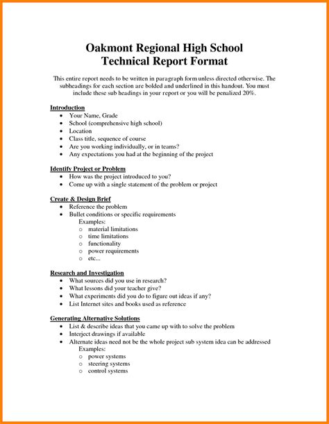 technical report writing examples  examples