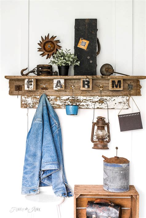19 easy diy coat rack design ideas recycled wood coat rack with vintage wire hooks tradingbasis
