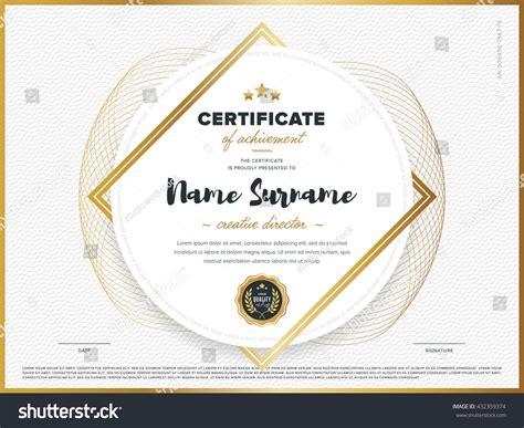 certificate vector template design diploma design stock