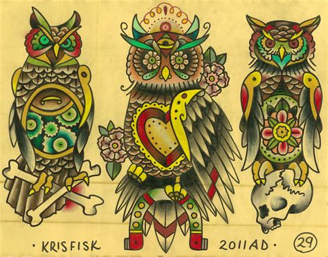 american traditional owl tattoo flash design ideas project 4 gallery