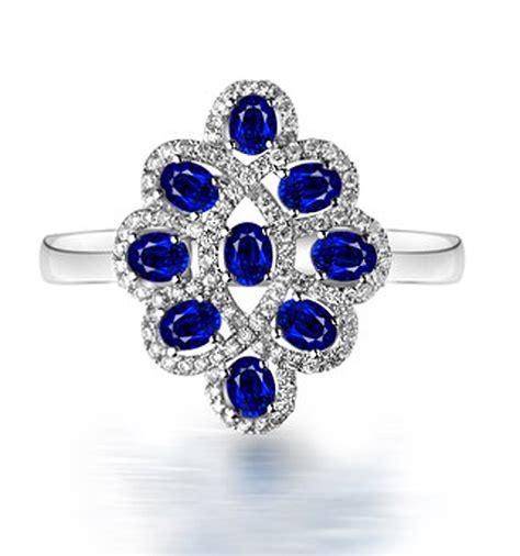 3 carat vintage unique blue sapphire and