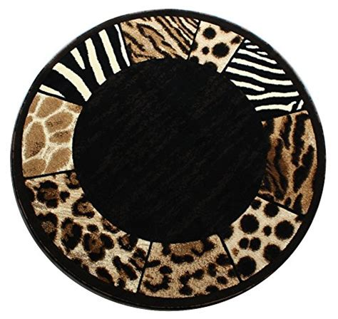 10 ft diameter rug modern animal print area rug design s 73 black 5