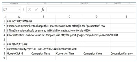 Tracking Offline Conversions In Google Adwords Adwords Editor Upload Template