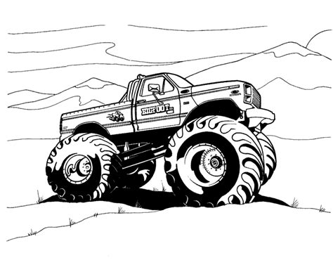 bigfoot monster truck coloring pages free printable monster truck coloring pages for kids