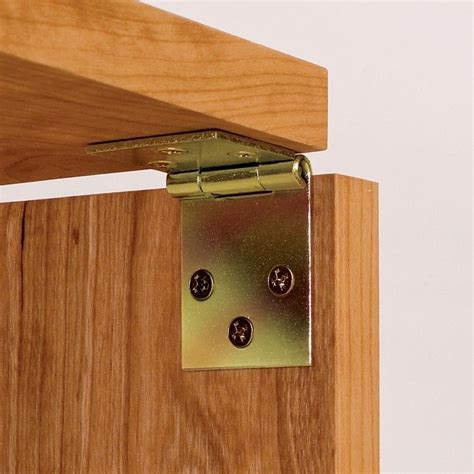 Drop Leaf Table Hardware Drop Leaf Hinges For Edges Yellow Zinc Plated Rockler Woodworking And Hardware