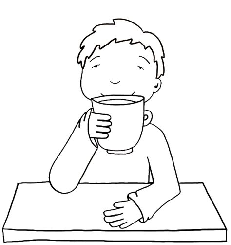 coloring page drinking water drink coloring download drink coloring