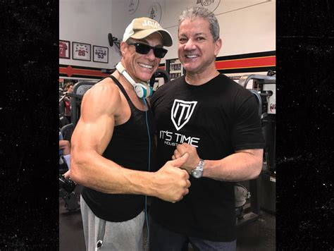 golds gym the fan jean claude van damme ufc s bruce buffer get jacked at