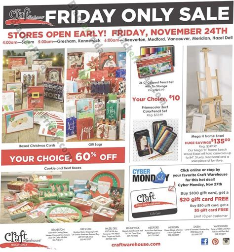 crown craft warehouse sale craft warehouse black friday 2018 sale ad scan blacker