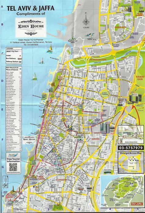 tel aviv map maps of tel aviv shalom israel