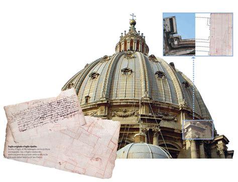 cupola michelangelo l appunto di michelangelo scoperto in san pietro il sole