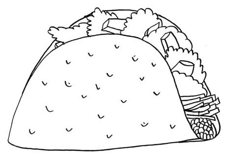 coloring pages mexican food free taco coloring page other art listia com auctions