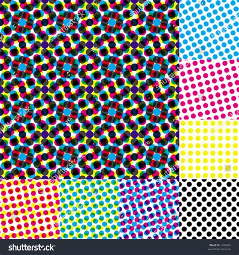 color halftone pattern halftone moire seamless vector wallpaper all stock vector