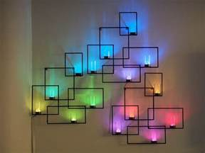 led light displays wall sconces with weather display and tangible user