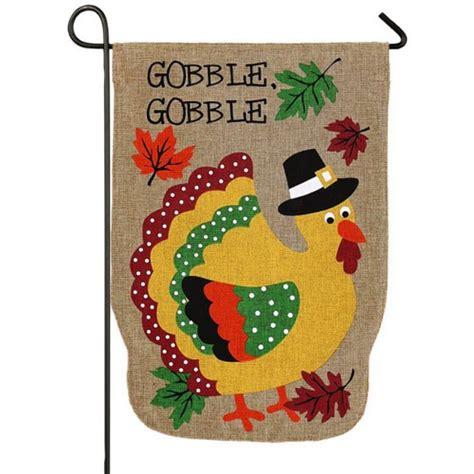 pilgrim turkey burlap garden flag thanksgiving garden