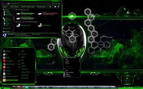 download theme windows 8 1 razer toxic green alienware windows 7 theme