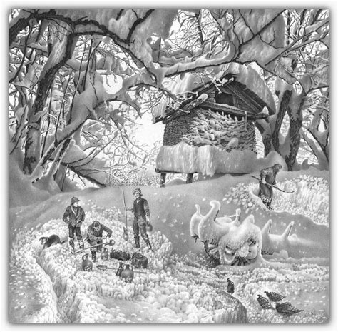 imagenes a lapiz de navidad dibujos hechos lapiz nieve navidad 51