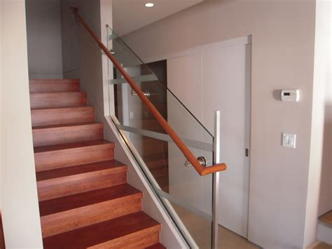 glass stair banister glass stair rail with glass mount railing hardware ot glass